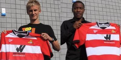 Byron Webster and Mustapha Dumbaya (pic courtesy of DRFC)
