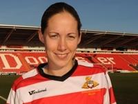 Belles striker Liz Hansen
